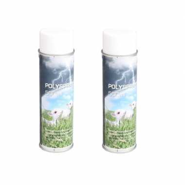 2x busjes impregneerspray 500 ml voor tuinbeelden tuinbeeldje