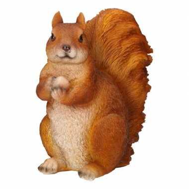 Dieren beeldje van een eekhoorn 17 x 12 x 23 cm tuinbeeldje