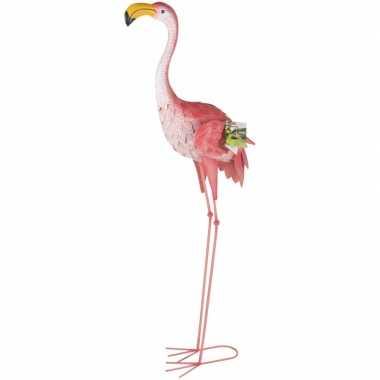 Flamingo thema tuindecoratie/tuinbeeld 104 cm tuinbeeldje