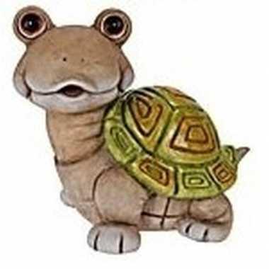 Schildpad tuinbeeld 33 cm tuinbeeldje