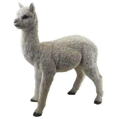 Tuinbeeld alpaca/lama staand 54 cm tuinbeeldje