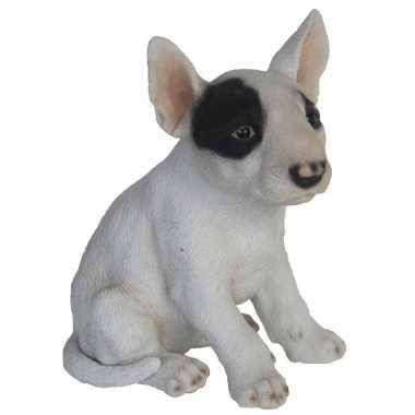Tuinbeeldje bull terrier hond 18 cm
